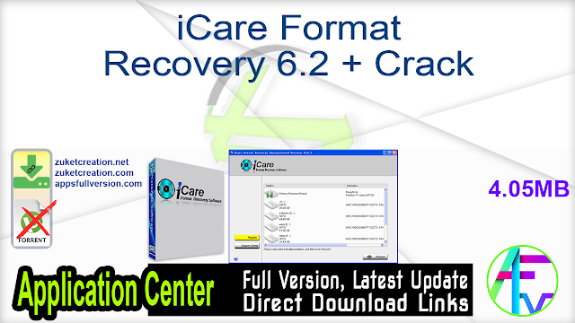 iCare Format Recovery 6.2 + Crack