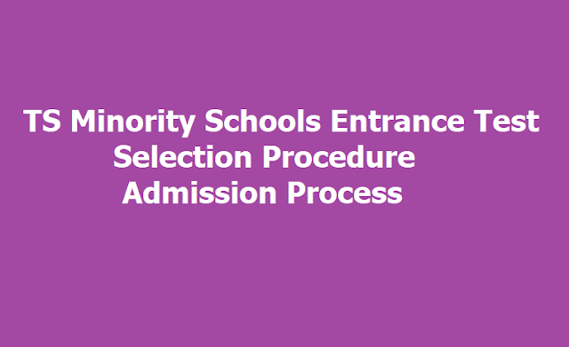 TMREIS Entrance Test Selection Procedure, Admission Process for TS Minority Residential Schools