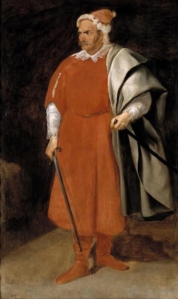Диего Веласкес - Портрет шута Кристобаля де Кастанеды и Перния (1635)