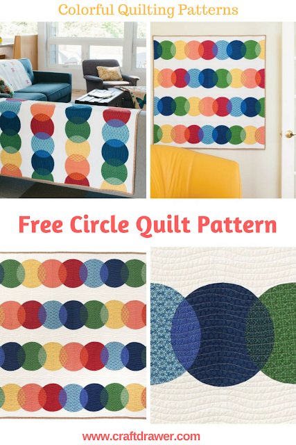 Free Colorful Circle Quilt Pattern Download