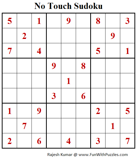 No Touch Sudoku Puzzle (Daily Sudoku League #202)