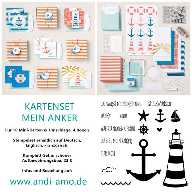 Stampin Up Kartenset Mein Anker