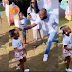 Moment Davido scolded his daughter, Hailey, for trying to twerk at her birthday party (Video)