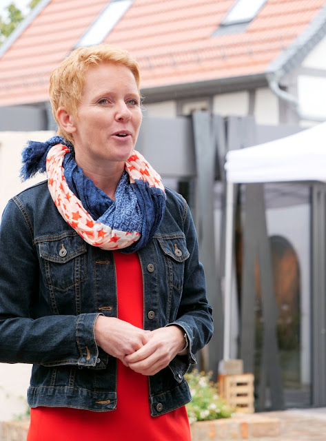 Winzerin Anette Closheim aus Langenlonsheim an der Nahe.