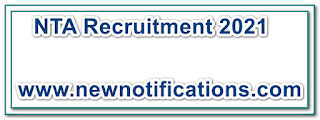 NTA Recruitment 2021