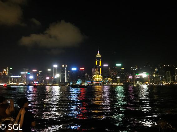 Symphony of lights en Hong Kong, la antigua colonia britanica