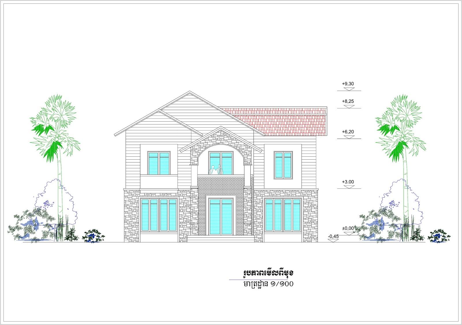 Sketchup Front Elevation : Villa design idea m sketchup and lumion