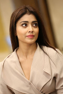 Shriya Saran in Cream Formals At Gautamiputra Satakarni Team Meet 18 (8).jpg