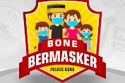 """Polres Bone Kampanyekan """"Bone Bermasker"""" di Tengah Pandemi Covid-19"""