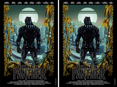 Black Panther Movie Poster Screen Print by Denys Cowan x Mondo