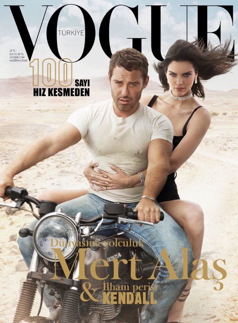 Kendall Jenner goes biker chic for Vogue Turkey
