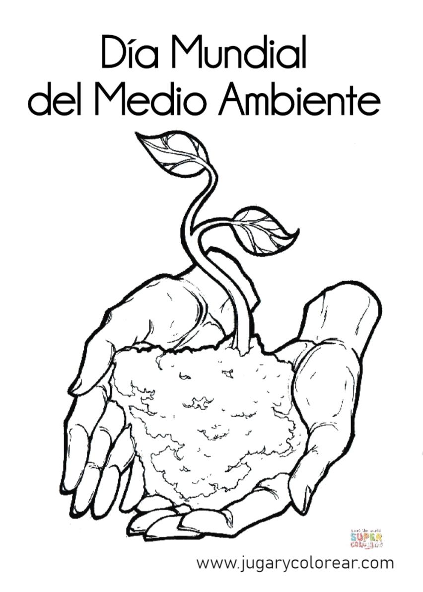Dibujos Para Colorear Sobre El Medio Ambiente Limpio Sobre La