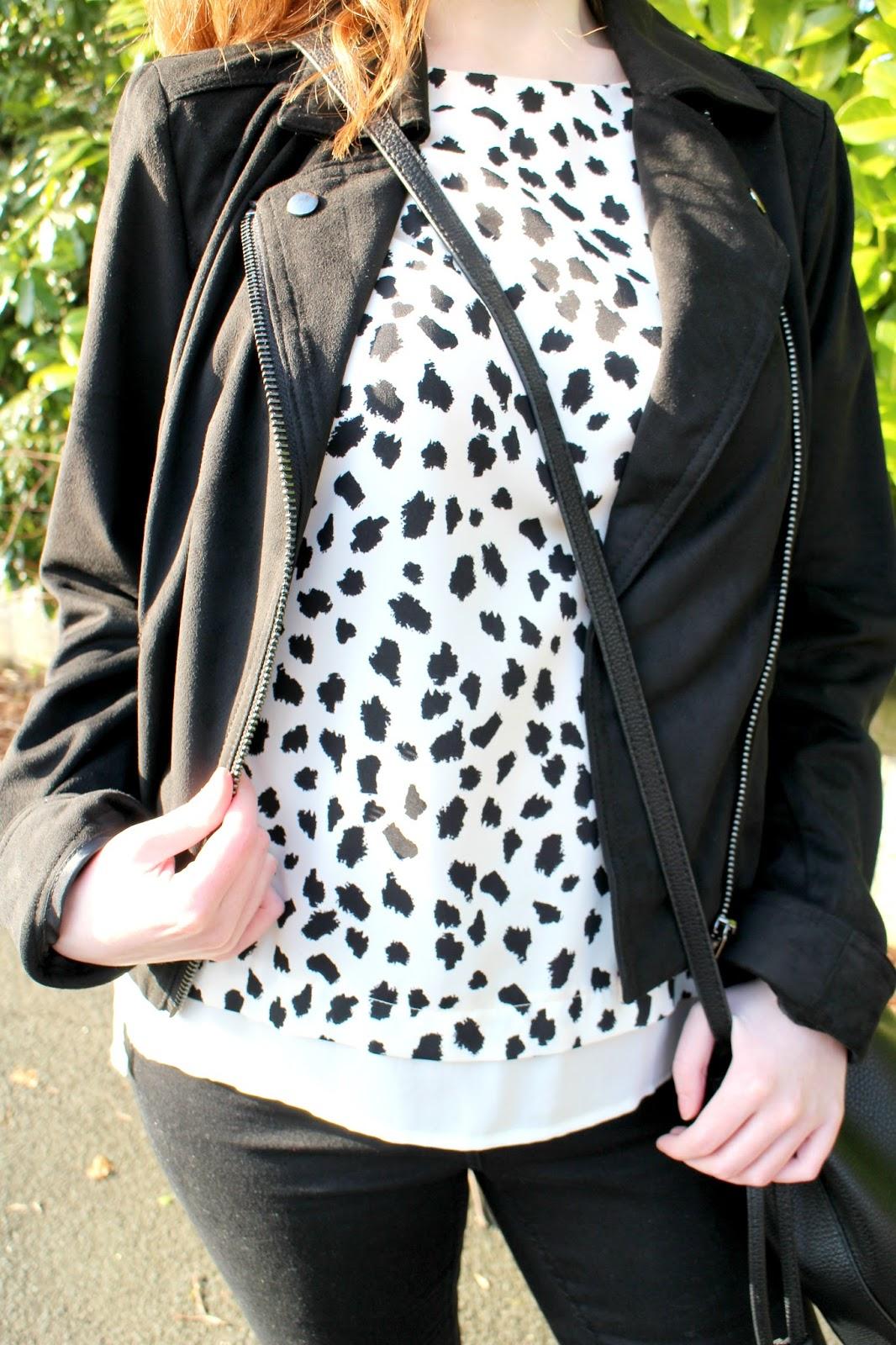 Oasis Suedette Biker Jacket