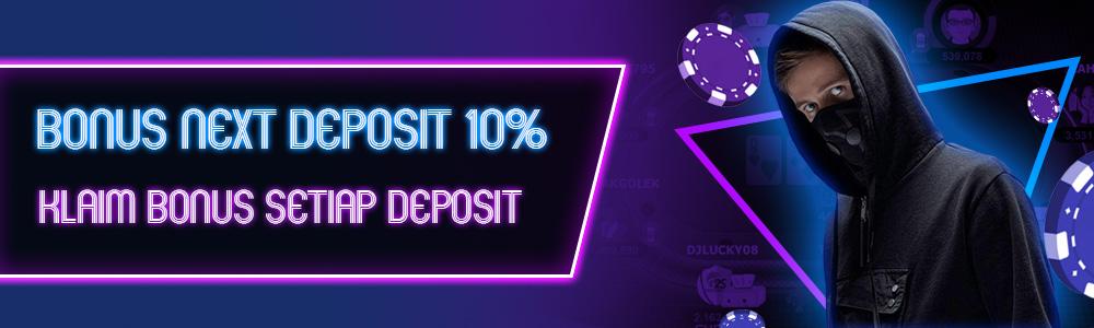 Bonus Deposit Poker Domino