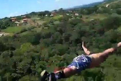 Bungee Jumping Horor, Temui Ajal Akibat Tali Kepanjangan