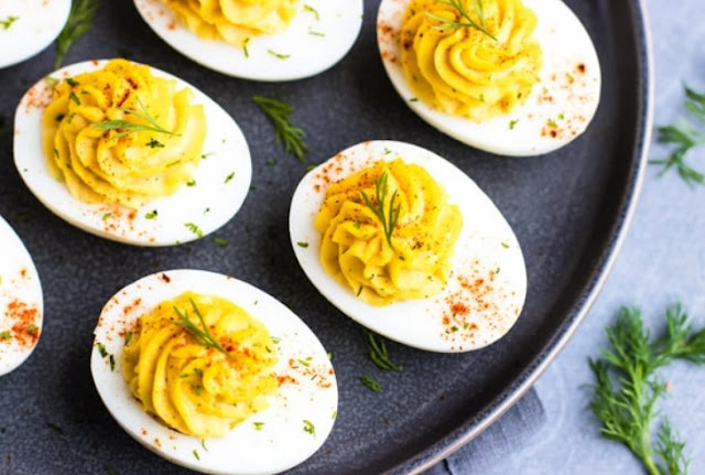 Deviled Eggs - Paleo, Keto, Low Carb, Whole30 #healthy #lowcarb