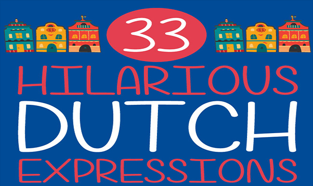 33 Funny words and sentences in Dutch #infographic