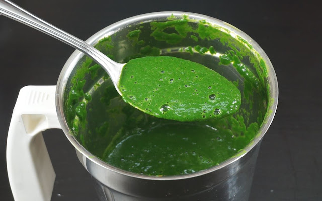 Spinach-paste