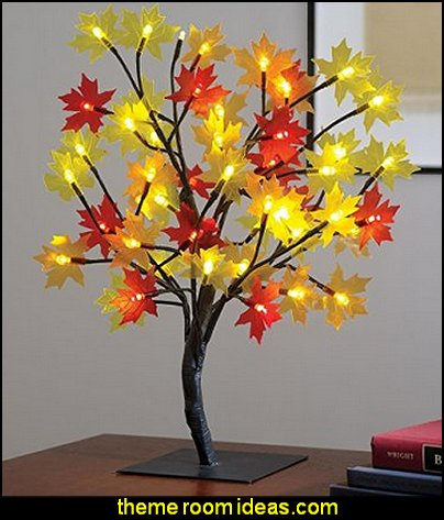 Maple Leaves Tabletop Tree