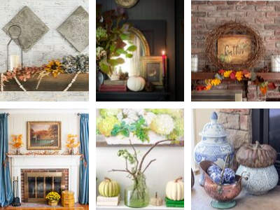 6 Beautiful Fall Mantel Ideas