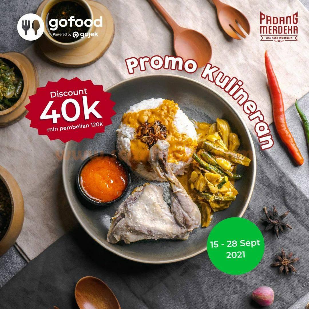 Padang Merdeka Promo Diskon Rp 40.000 via GoFood