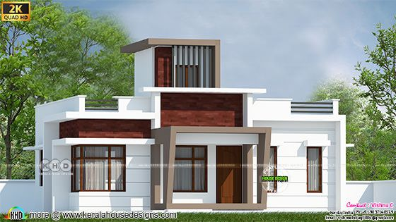 Box model house deisgn by Vishnu C