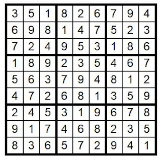 Answer Key Sudoku #30 Brain Training with Cats ©BionicBasil®