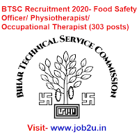 BTSC Recruitment 2020, Food Safety Officer, Physiotherapist, Occupational Therapist