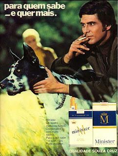 propaganda cigarros Minister - 1971. 1971. propaganda anos 70; história decada de 70; reclame anos 70; propaganda cigarros anos 70; Brazil in the 70s; Oswaldo Hernandez;