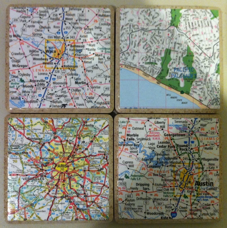 Map+Coasters+7 Map Coasters on map boxes, map heart ideas, map furniture, map office decor, map labels, map jewelry, map dishes, map template, map invitations, map fabric by the yard, map prints, map bag, map clothing, map accessories, map books, map games, map buttons, map pens, map watches, map themed fabric,
