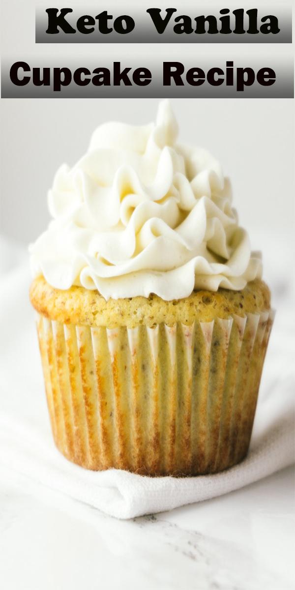 Keto Vanilla Cupcake Recipe #Keto #Vanilla #Cupcake #Recipe #KetoVanillaCupcakeRecipe