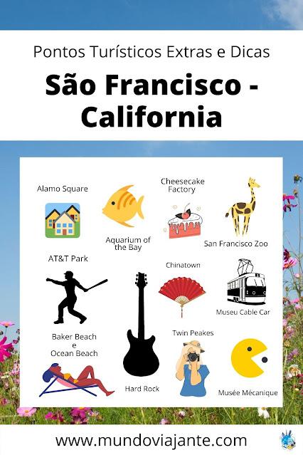 ilustrações pontos turisticos extras de san francisco