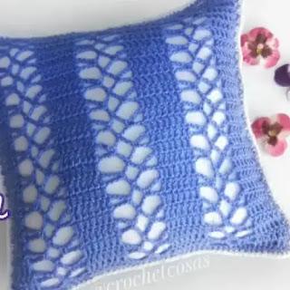 Funda de cojín a Crochet