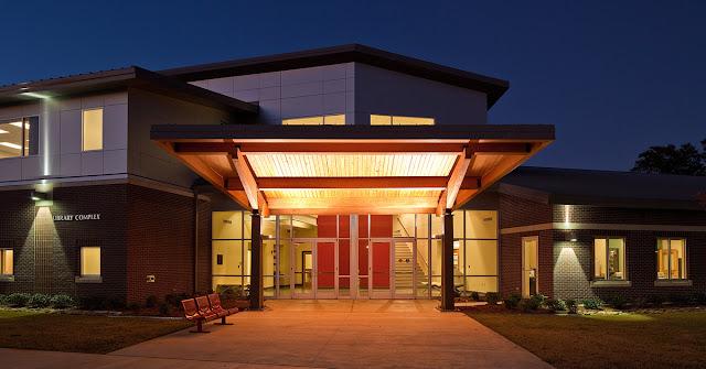 exterior building at night