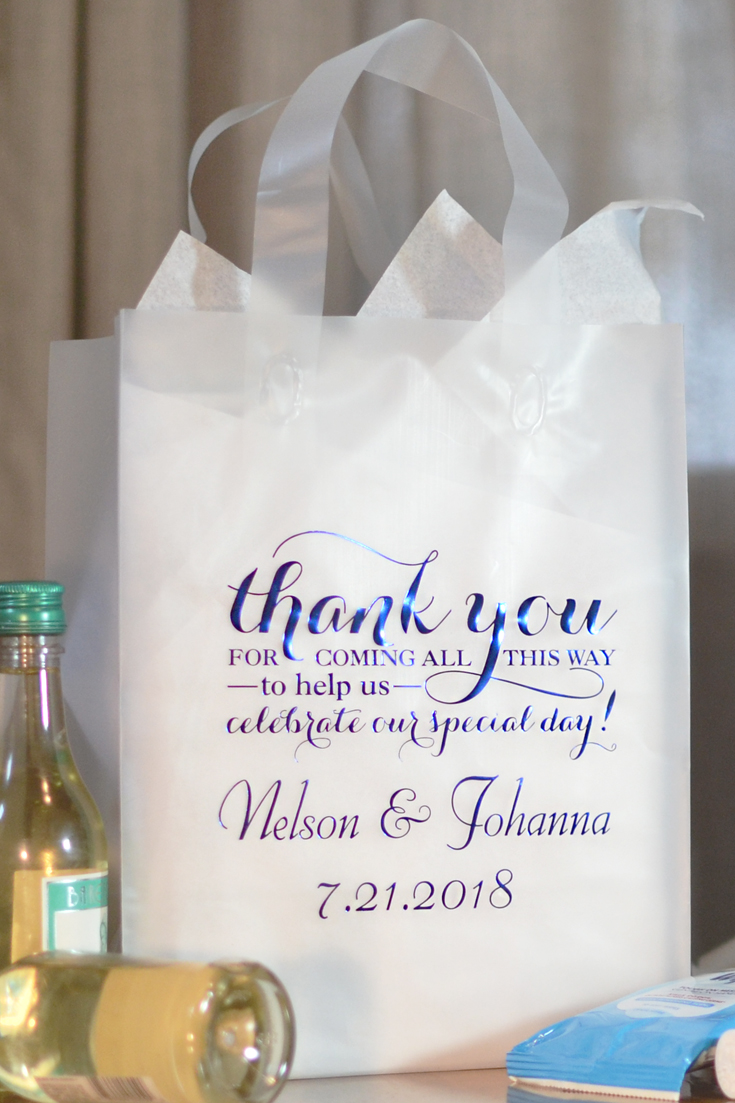 Clear Thank You Wedding Guest Gift Bags