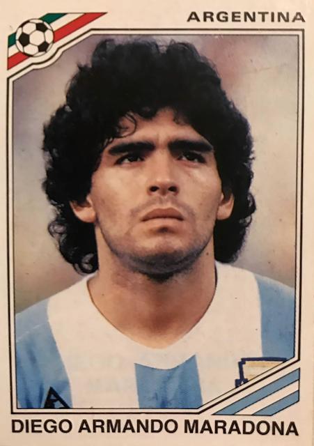 Figurina Maradona Messico 86