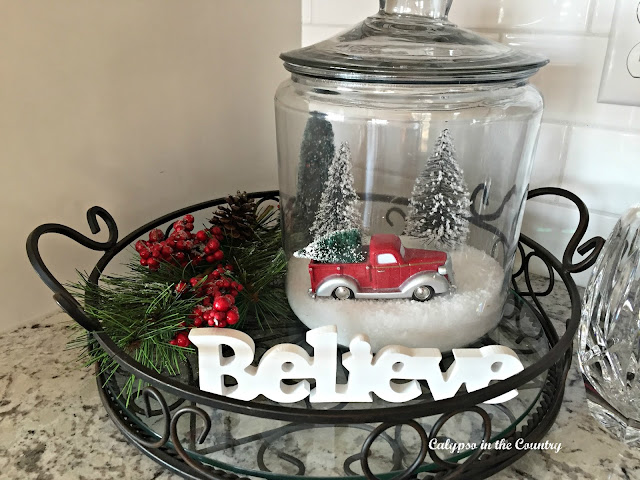 Snow scene inside jar