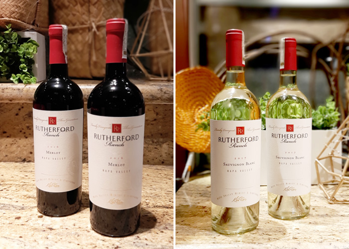 Rutherford Ranch Wines  (L) Rutherford Ranch Merlot (R) Rutherford Ranch Sauvignon Blanc