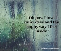 Rain Instagram Captions