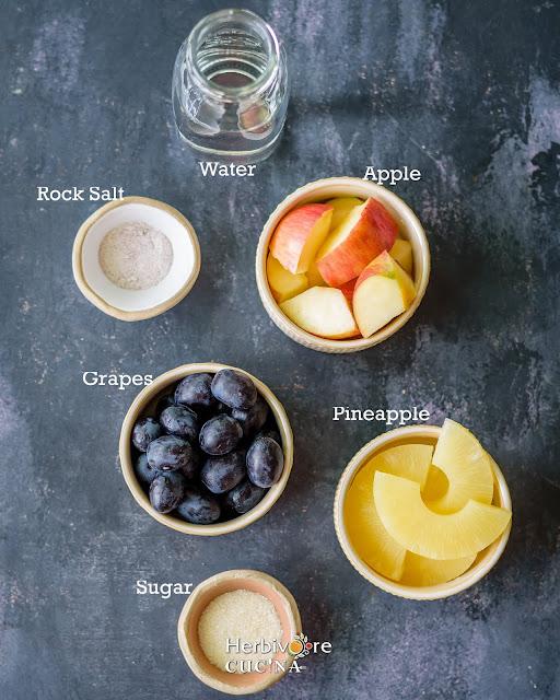 Mixed Fruit cocktail ingredients