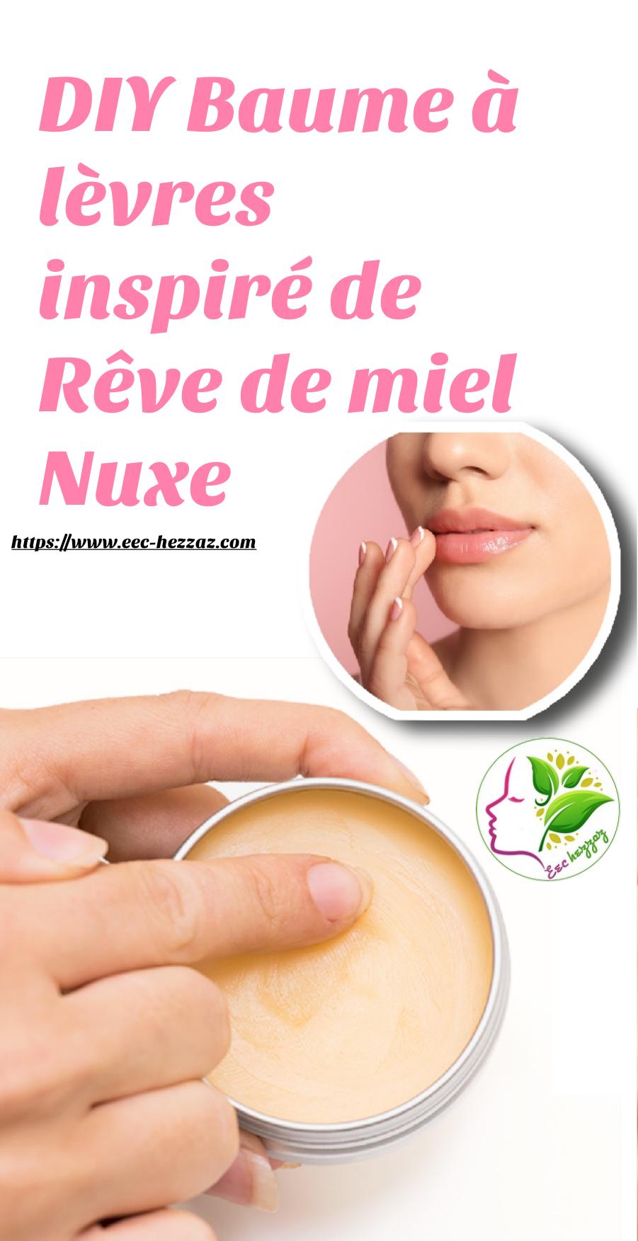 DIY Baume à lèvres inspiré de Rêve de miel Nuxe