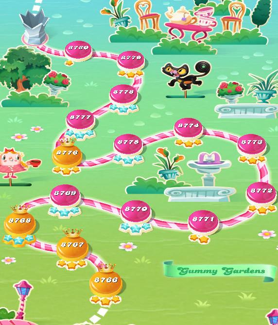 Candy Crush Saga level 8766-8780
