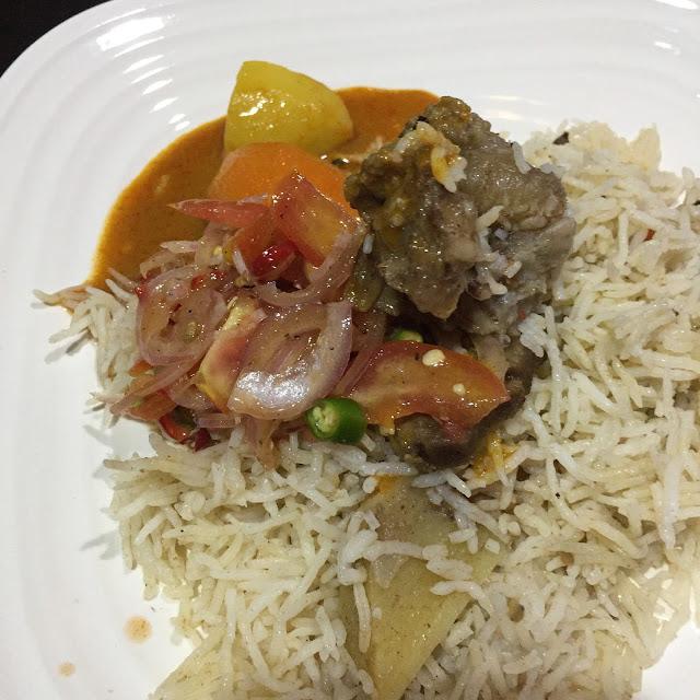 nasi daging utara, air asam nasi daging, menu ringkas, resepi sedap, resepi nasi