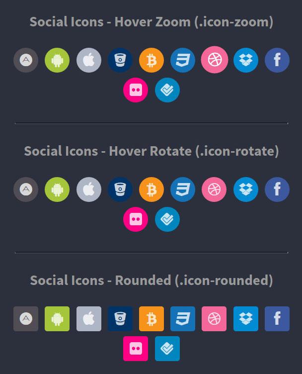 أيقونات شبكات التواصل الإجتماعي Social Media Buttons and