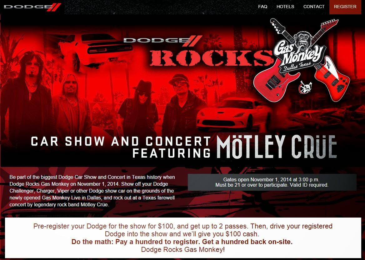 Just A Car Guy: Dodge car show, with Motley Crue concert