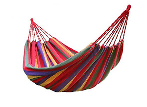 Inditradition Cotton Striped Foldable Hammock