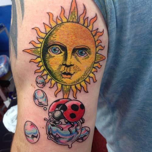 güneş dövmeleri sun tattoos 21
