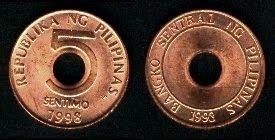 Philippines 5 Sentimos (1995+)