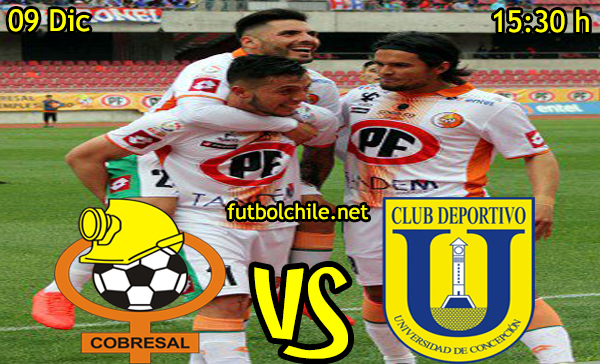 Ver stream hd youtube facebook movil android ios iphone table ipad windows mac linux resultado en vivo, online: Cobresal vs Universidad de Concepción