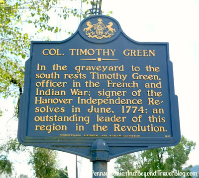Col. Timothy Green Historical Marker in Dauphin Pennsylvania